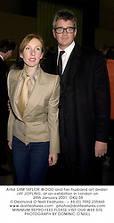 Artist SAM TAYLOR-WOOD and her husband art dealer JAY JOPLING, at an exhibition in London on 29th January 2001.OKU 38