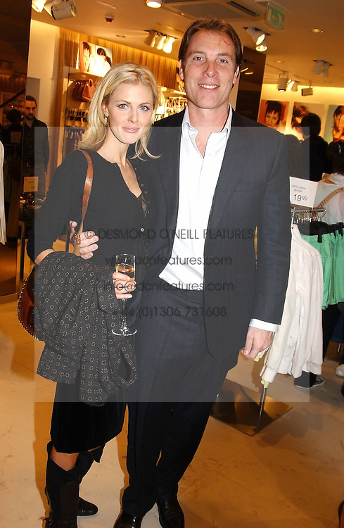 TV presenter DONNA AIR and DAMIAN ASPINALL at a party to celebrate the opening of the new H&M Flagship Store at 17-21 Brompton Road, London SW3 on 23rd March 2005.<br /><br />NON EXCLUSIVE - WORLD RIGHTS