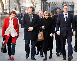 © Licensed to London News Pictures. 28/01/2019. London, UK. Conservative MPS, including ANNE MILTON and TOBIAS ELLWOOD arrive at the Cabinet Offices on Whitehall. MPs on Tuesday will vote on a series of amendments to the PM's plans that could shape the future direction of Brexit.. Photo credit: Ben Cawthra/LNP