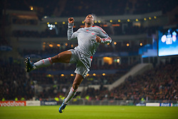 EINDHOVEN, THE NETHERLANDS - Tuesday, December 9, 2008: Liverpool's Ryan Babel celebrates scoring the equalising goal against PSV Eindhoven during the final UEFA Champions League Group D match at the Philips Stadium. (Photo by David Rawcliffe/Propaganda)