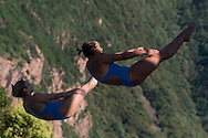 Team BRASIL - VELOSO Juliana GALERA Tammy<br /> Bolzano, Italy <br /> 22nd FINA Diving Grand Prix 2016 Trofeo Unipol<br /> Diving<br /> Women's 3m synchronised springboard final <br /> Day 01 15-07-2016<br /> Photo Giorgio Perottino/Deepbluemedia/Insidefoto