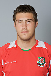 SWANSEA, WALES - Monday, March 30, 2009: Wales' Under-21 Grant Basey. (Photo by David Rawcliffe/Propaganda)