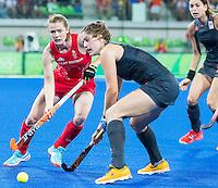 RIO DE JANEIRO -  Marloes Keetels (Ned) met Marloes Keetels (Ned) tijdens de finale tussen de dames van Nederland en  Groot-Brittannie in het Olympic Hockey Center tijdens de Olympische Spelen in Rio.    COPYRIGHT KOEN SUYK