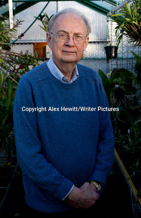 Henry Marsh, British Poet and orchidist photographed at his home near Edinburgh, Scotland. 16th December 2013<br /> <br /> Picture by Alex Hewitt/Writer Pictures<br /> <br /> World Rights