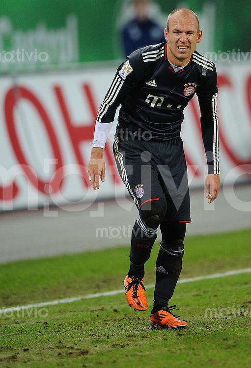 Fussball Bundesliga Saison 2010/2011 VFL Wolfsburg - FC Bayern Muenchen Arjen ROBBEN (FC Bayern).
