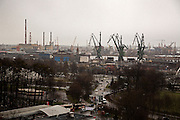 Iconic cranes of Gdansk shipyard.<br /> <br /> Gdansk and Remontowa Shipyards
