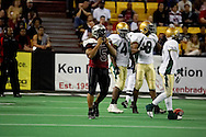 4/12/2007 - Brandon Warfield (5) of the Alaska Wild in their 33-46 loss to the Frisco Thunder in the first professional football game in Alaska.