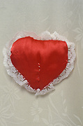 mended heart cushion