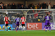 Goal - Mitch Rose (8) of Grimsby Town scores a goal from the penalty spot to make the score 1-2 during the EFL Sky Bet League 2 match between Exeter City and Grimsby Town FC at St James' Park, Exeter, England on 29 December 2018.