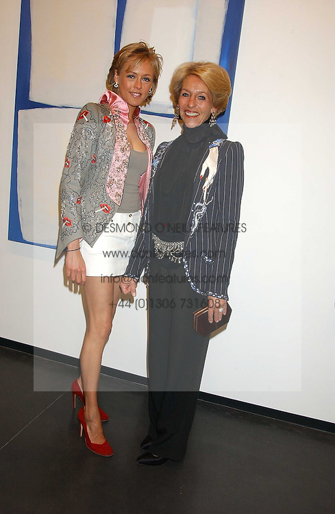 Left to right, LADY ALEXANDRA SPENCER-CHURCHILL and the DUCHESS OF MARLBOROUGH at a private view of paintings by Rosita Marlborough (The Duchess of Marlborough) held at Hamiltons gallery, Carlos Place, London W1 on 9th November 2005.<br />
