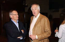 Left to right, LORD ARCHER and SIR TIM RICE at a party to celebrate the publication of Wicked - A Tale of Two Schools by Jilly Cooper held at Westminster School, Dean's Yard, London on 11th May 2006.<br />