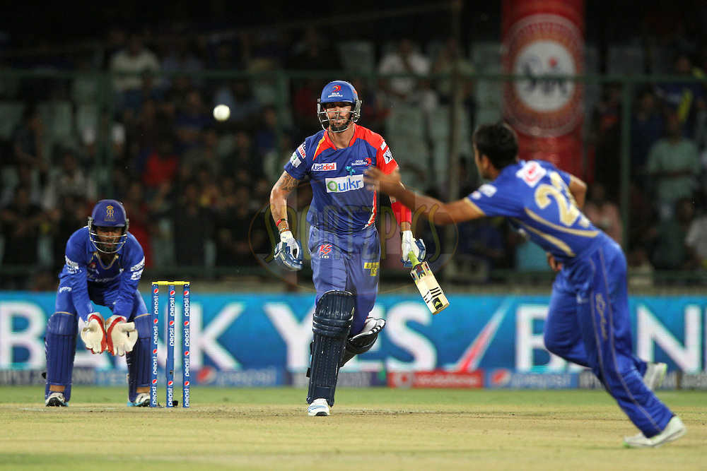 Kevin Pietersen captain of of the Delhi Daredevil during match 23 of the Pepsi Indian Premier League Season 2014 between the Delhi Daredevils and the Rajasthan Royals held at the Feroze Shah Kotla cricket stadium, Delhi, India on the 3rd May  2014<br /> <br /> Photo by Deepak Malik / IPL / SPORTZPICS<br /> <br /> <br /> <br /> Image use subject to terms and conditions which can be found here:  http://sportzpics.photoshelter.com/gallery/Pepsi-IPL-Image-terms-and-conditions/G00004VW1IVJ.gB0/C0000TScjhBM6ikg