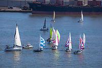 Aerial view, Liberty Sailing Club, recreational, Delaware River, penns landing, boating, boat races,  Philadelphia