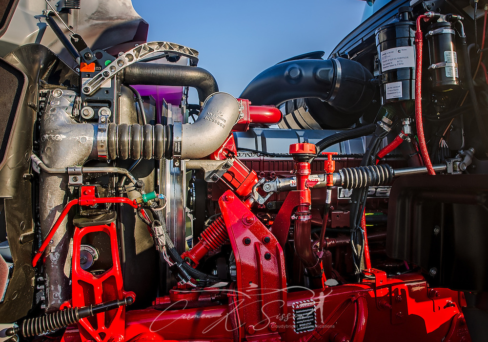 The engine of a 2017 Mack Truck is pictured at Shealy Truck Center, Nov. 16, 2016, in Columbia, S.C. (Photo by Carmen K. Sisson/Cloudybright)