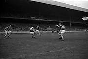 17/10/1965<br /> 10/17/1965<br /> 17 October 1965<br /> Oireachtas Final: Kilkenny v Tipperary at Croke Park, Dublin.<br /> Tipperary back, Maher (3), and goalie, O'Donoghue (1), clear the ball.