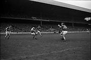 17/10/1965<br /> 10/17/1965<br /> 17 October 1965<br /> Oireachtas Final: Kilkenny v Tipperary at Croke Park, Dublin.<br /> Tipperary back, Maher (3), and goalie, O'Donoghue (1), clear the ball.