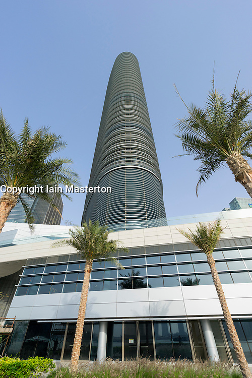 The new Rosewood Hotel on Al Maryah Island in Abu Dhabi United Arab Emirates