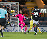 Dundee keeper Scott Bain saves one handed from Hearts&rsquo; Jamie Walker - Dundee v Hearts in the Ladbrokes Scottish Premiership at Dens Park, Dundee. Photo: David Young<br /> <br />  - &copy; David Young - www.davidyoungphoto.co.uk - email: davidyoungphoto@gmail.com