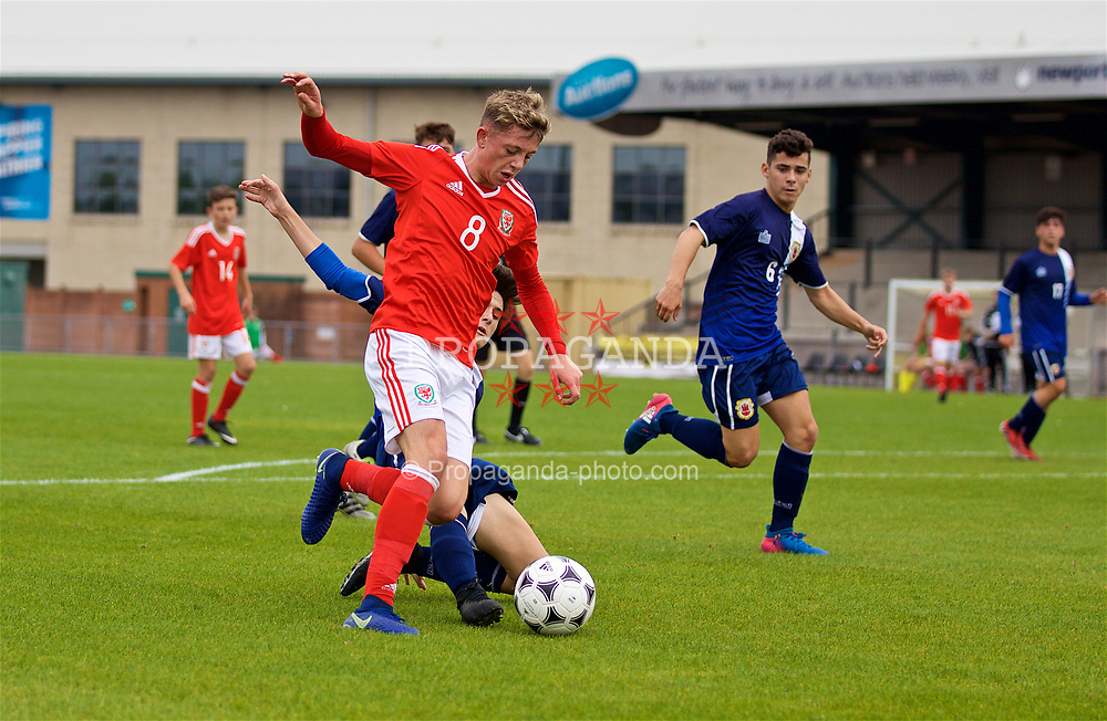 NEWPORT, WALES - Sunday, September 24, 2017: Wales' William Rickard during an Under-16 International friendly match between Wales and Gibraltar at the Newport Stadium. (Pic by David Rawcliffe/Propaganda)