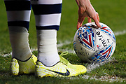 Player places the match ball down for a corner during the EFL Sky Bet Championship match between West Bromwich Albion and Stoke City at The Hawthorns, West Bromwich, England on 20 January 2020.