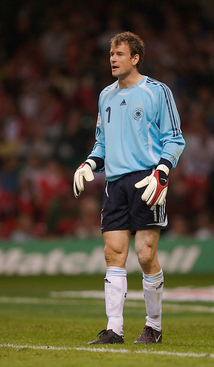 Cardiff, Wales - Saturday, September 8, 2007: Germany's goalkeeper Jens Lehmann in action against Wales during the Euro 2008 Qualifying Group D match at the Millennium Stadium. (Photo by David Rawcliffe/Propaganda)