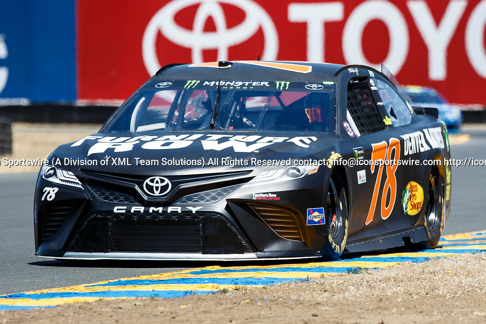 SONOMA, CA - JUNE 24: Monster Energy NASCAR Cup Series driver Martin Truex Jr. (78) took 3rd during qualification for the Monster Energy NASCAR Cup held at Sonoma Raceway on June 23-25, 2017. (Photo by Allan Hamilton/Icon Sportswire)
