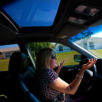 TAMPA, FL -- March 22, 2011 -- Shannon Moore, broker/owner of Green Lion Realty, drives though a neighborhood full of foreclosed homes and short sales in North Port, Fla., 2011.  A recent study showed that one and five homes in the state of Florida is vacant.