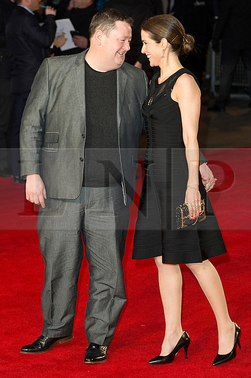 © Licensed to London News Pictures. 22/02/2016. JOHNNY VEGAS attends the GRIMSBY Film premiere. The film centres around a black-ops spy whose brother is a football hooligan.  London, UK. Photo credit: Ray Tang/LNP