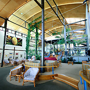 Interior of the main foyer of Kingfisher Bay Resort on Fraser Island, Queensland, Australia