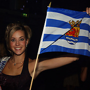 Verkiezing Miss Nederland 2003, Sanne de Regt en vlag provincie Zeeland
