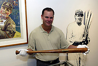 20013: Babe Ruth Bat on display at Sotheby's Los Angeles, CA.  MLB baseball history.