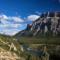 Hoodoos on Bow River Banff National Park, Alberta, Canada