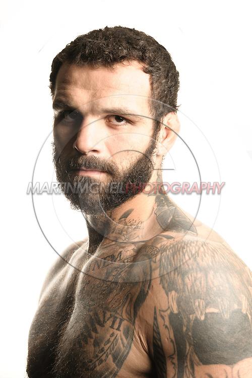A portrait of mixed martial arts athlete Alessio Sakara