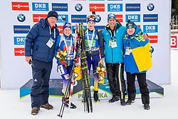 Anastasiya Merkushyna (UKR) and Artem Tyshchenko (UKR) during Single Mixed Relay at day 1 of IBU Biathlon World Cup 2018/19 Pokljuka, on December 2, 2018 in Rudno polje, Pokljuka, Pokljuka, Slovenia. Photo by Ziga Zupan / Sportida