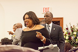 Commissioner Beverly Nicholson-Doty.  Governor Kenneth E. Mapp delivers the State of the Territory Address at the Earle B. Otlley Legislative Chambers.  St. Thomas, USVI.  30 January 2017.  © Aisha-Zakiya Boyd