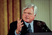 Senator Ted Kennedy during an event in the East Room of the White House January 13, 1999 where he made an announcement on support for the disabled.