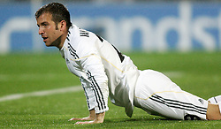 25.03.2010, Coliseum Alfonso Perez, Madrid, ESP, Primera Divison, FC Getafe vs Real Madrid, im Bild Real Madrid's Rafael van der Vaart am Boden, EXPA Pictures © 2010, PhotoCredit: EXPA/ Alterphotos/ Alvaro Hernandez / SPORTIDA PHOTO AGENCY
