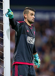 WEST BROMWICH, ENGLAND - Monday, August 10, 2015: West Bromwich Albion's goalkeeper Boaz Myhill in action against Manchester City during the Premier League match at the Hawthorns. (Pic by David Rawcliffe/Propaganda)
