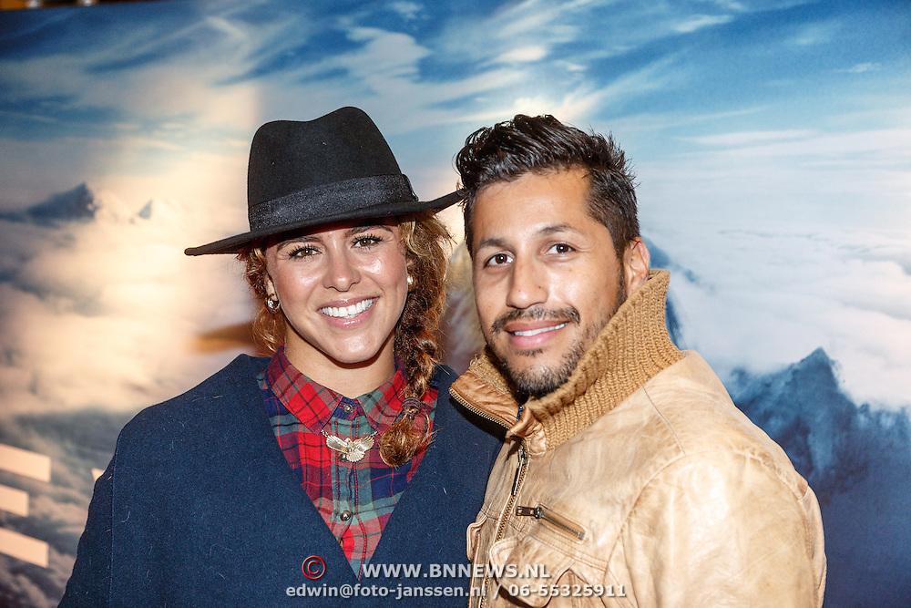 NLD/Amsterdam/20150914 - Premiere 3D Imax film Everest, Jody Bernal en partner Melissa Theba