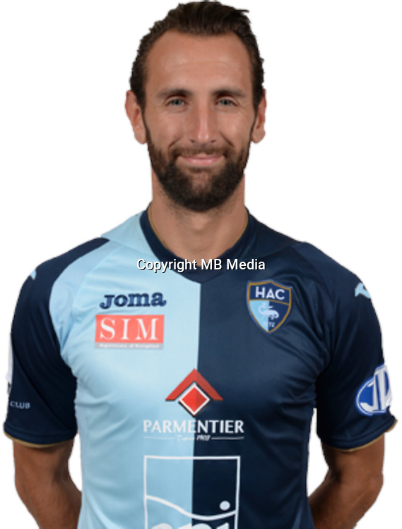 GIMBERT Ghislain during photocall of Le Havre AC for new season of Ligue 2 on September 29th 2016<br /> Photo : Lelaidier / Hac / Icon Sport