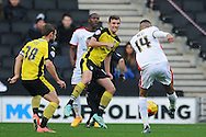 Dele Alli of MK Dons scores his sides first goal to make the scoreline 1-0 during the Sky Bet League 1 match between Milton Keynes Dons and Colchester United at stadium:mk, Milton Keynes<br /> Picture by Richard Blaxall/Focus Images Ltd +44 7853 364624<br /> 29/11/2014