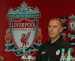 LIVERPOOL, ENGLAND - Thursday, July 10, 2003: Liverpool FC's new coach Christian Damiano at a press conference at Anfield. (Pic by David Rawcliffe/Propaganda)