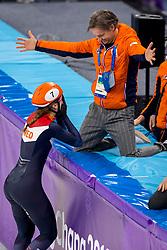 22-02-2018 KOR: Olympic Games day 13, PyeongChang<br /> Short Track Speedskating / Shorttrackster Suzanne Schulting heeft dankzij een magistrale finale de olympische titel veroverd op de 1.000 meter. Jeroen Otter