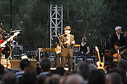 Cimiez-Nice, France. July 22nd 2008..Leonard Cohen performs at the Nice Jazz Festival.