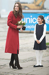 Picture by Mark Larner/Barcroft Media. Picture shows, ltor:  Katherine, Duchess of Cambridge, outside the Copenhagen UNICEF Distribution Depot 02/11/2011...The Duke and Duchess of Cambridge are today visiting children's charity Unicef's emergency supply centre in Copenhagen with with the Crown Prince Frederik and Crown Princess Mary of Denmark.