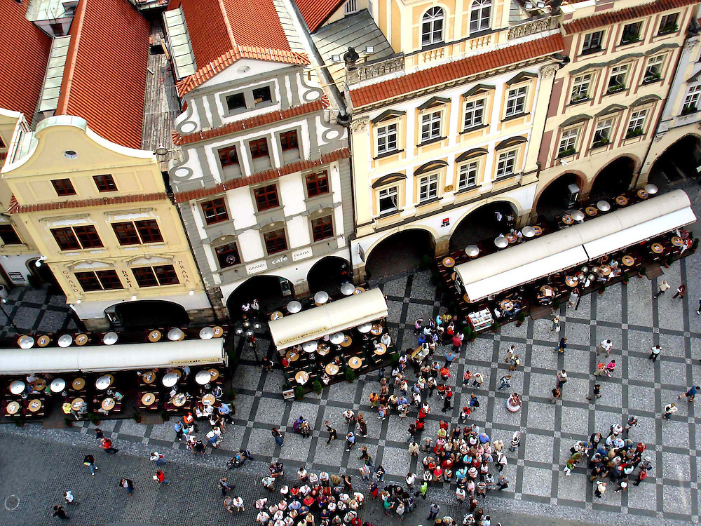 Bird's eye in Prague, Czech Republic.