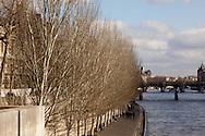 France. Paris. Seine river quays. Paris Quai du louvre