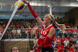 21-04-2019 NED: VC Sneek - Sliedrecht Sport, Sneek<br /> Final Round 2 of 5 Eredivisie volleyball - Sliedrecht Sport win 3-0 / Sietske Osinga #10 of VC Sneek