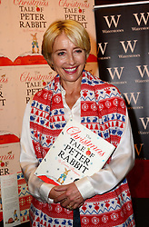 Emma Thompson book signing. <br /> Oscar-winning British stage and screen actress signs copies of the latest book in her Peter Rabbit series, The Christmas Tale of Peter Rabbit, Waterstones Kings Road, London, United Kingdom. Thursday, 3rd October 2013. Picture by Nils Jorgensen / i-Images