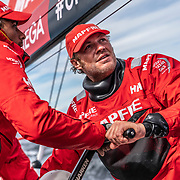 Leg 11, from Gothenburg to The Hague, day 03 on board MAPFRE, Antonio Cuervas-Mons with Guillwrmo Altadill. 23 June, 2018.. 23 June, 2018.